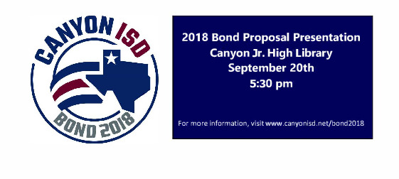 Invitation to Community Bond Presentation on 9 20 18