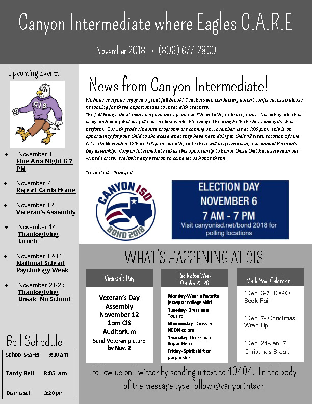 CIS November Newsletter