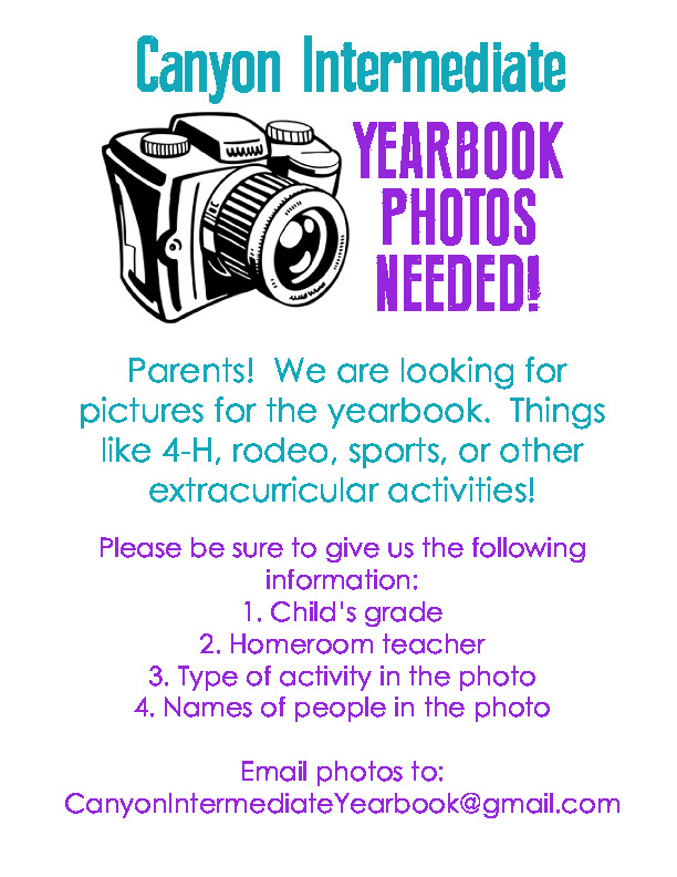 CIS photos needed for Yearbook