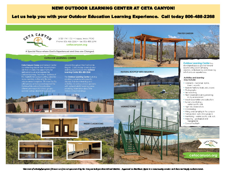 New  Outdoor Learning Center at Ceta Canyon