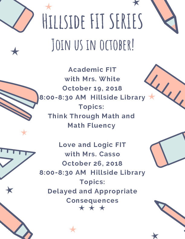 FIT Meeting dates and topics for October