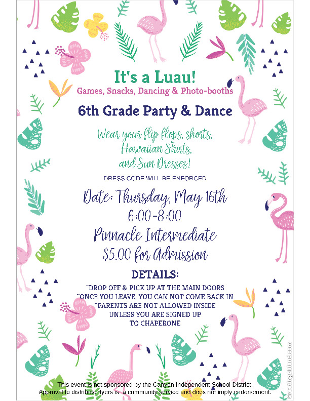 Celebrate with Games Snacks Dancing and Photo booths at the 6th Grade Party and Dance