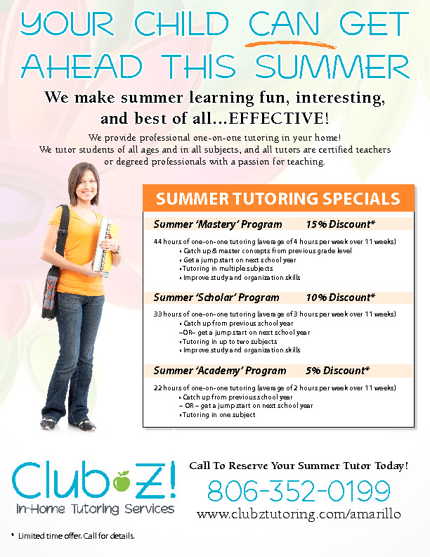 Does your child need to catch up or get ahead this summer  Give us a call