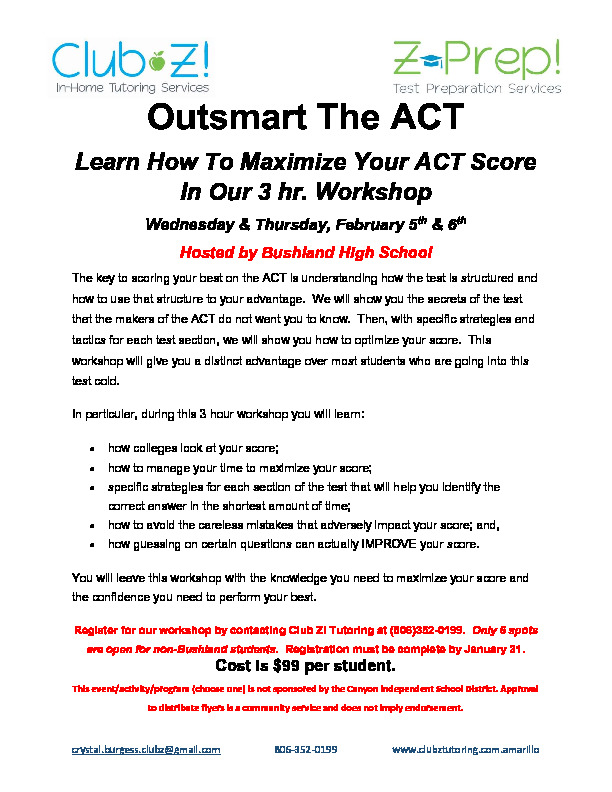 Outsmart the ACT