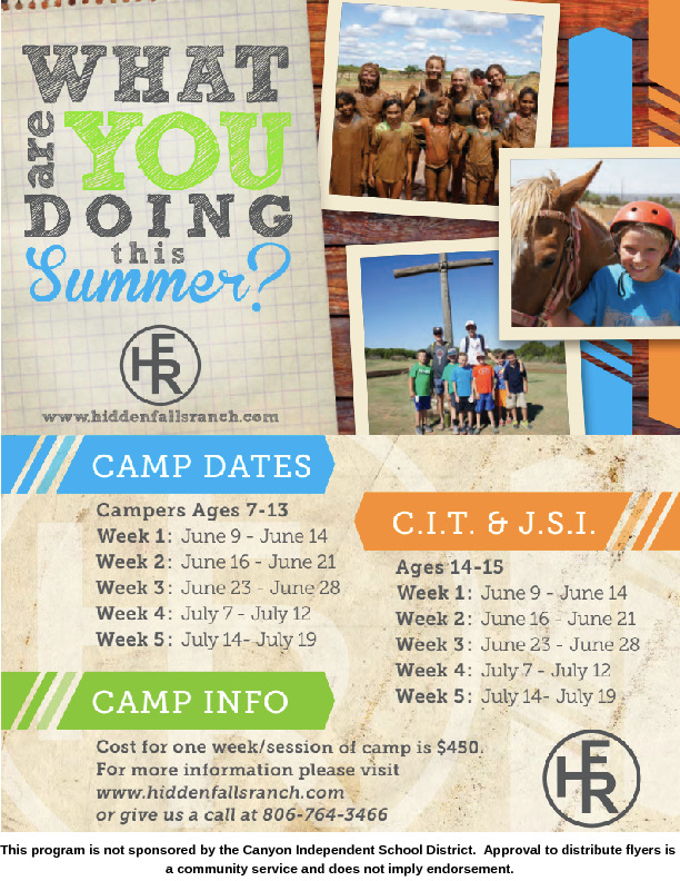 What are your kids doing this summer  Hidden Falls Ranch provides week long summer camp for kids ages 7 15