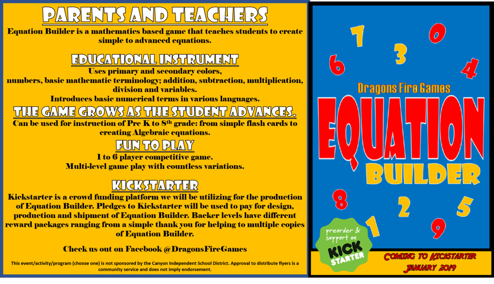 Equation Builder is a mathematics based game that teaches students to create simple to advanced equations