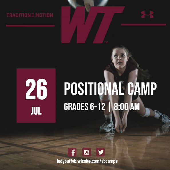 Want to develop a specific part of your game Join us here at WT More info httpsladybuffvbwixsitecomvbcamps
