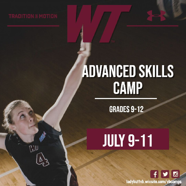 Looking to develop your skills at a high level Come train at WT More info httpsladybuffvbwixsitecomvbcamps