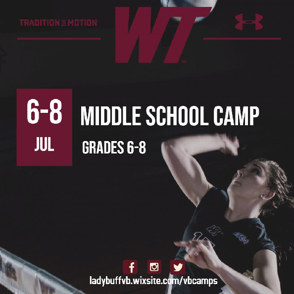 Join us in the gym this summer developing your volleyball skills More info httpsladybuffvbwixsitecomvbcamps