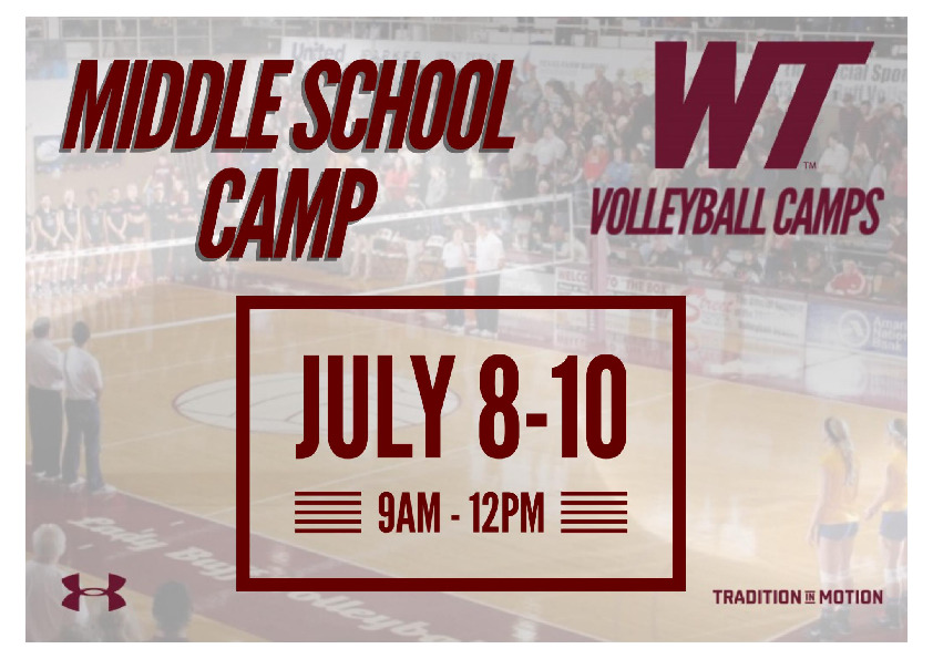 Come train with the Lady Buff Volleyball team Spots are limited For more information visit gobuffsgocom summer camp