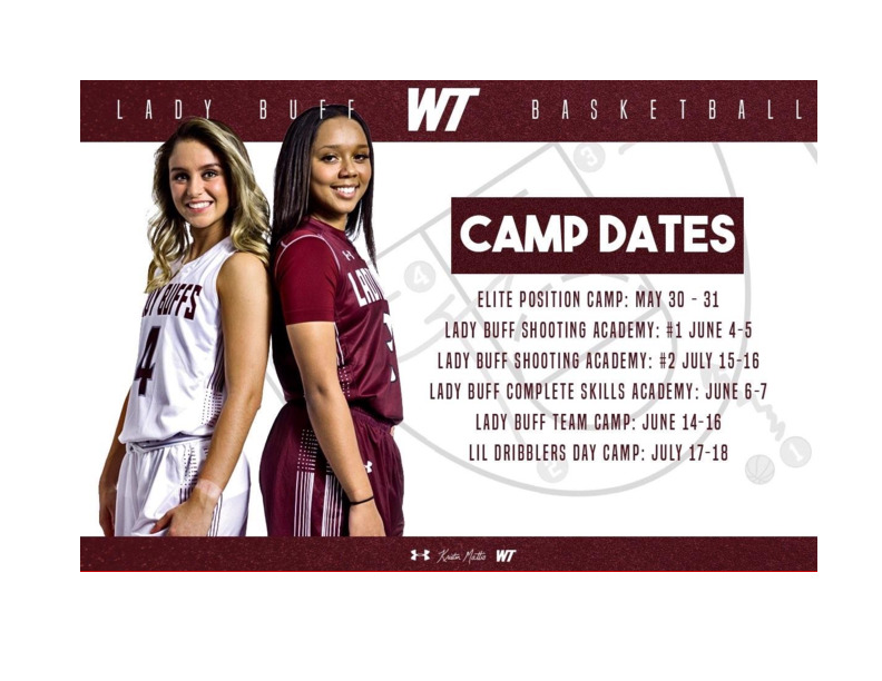 Come have fun and work on your overall game at the Lady Buff Basketball Camps this summer Register at wwwgobuffsgocom