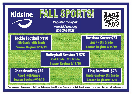 Kids Incorporated Fall Sports Register Today
