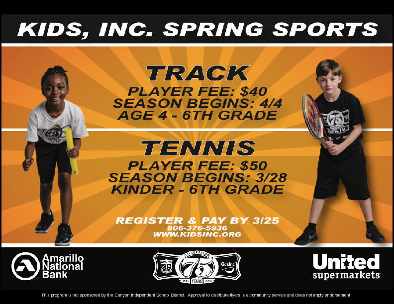 KIDS INC SPRING SPORTSTRACKPLAYER FEE 40TENNISPLAYER FEE 50