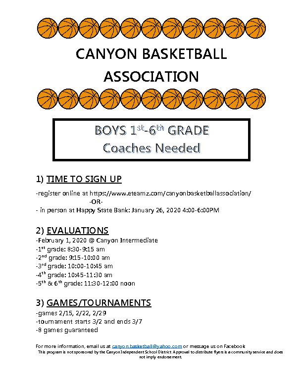 Basketball open to all boys grades 1 6
