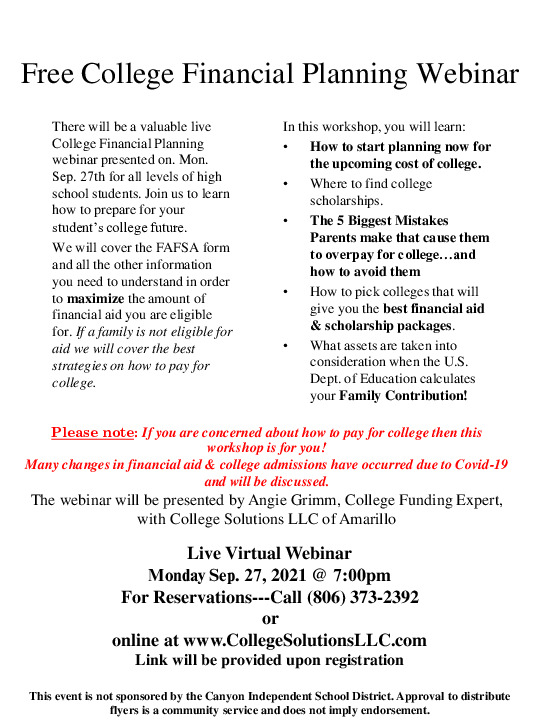 Free event to educate students  parents on college admissions  financial aid