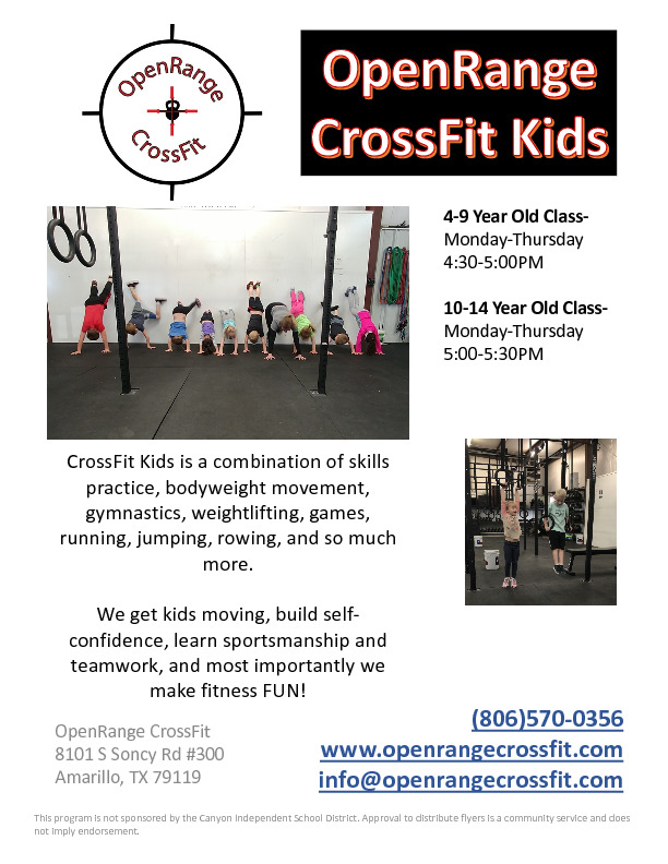 CrossFit Kids is a fun exciting program to keep your kids active and having fun Call 806570 0356 for info