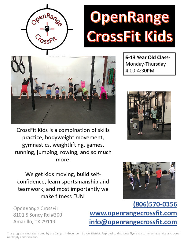 OpenRange CrossFit Kids offers kids an organized class to move and play while they exercise