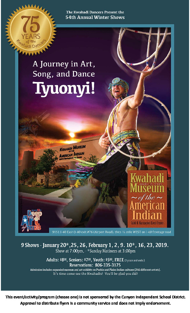 Kwahadi Dancers Winter Shows   Be Part of the 75th Anniversary in 2019