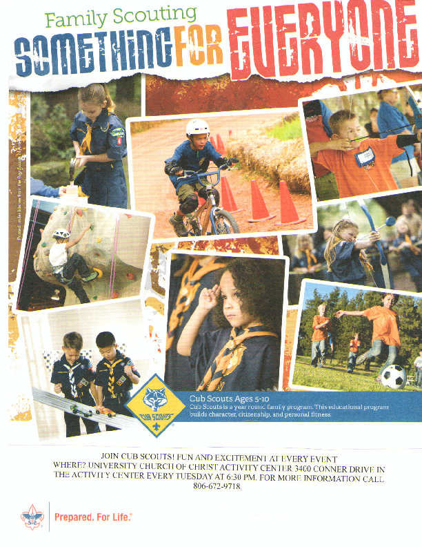 Cub scout recruiting