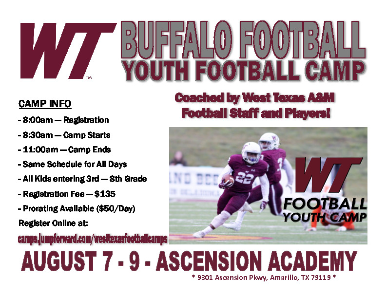 West Texas AM Youth Football Camp   Ascension Academy