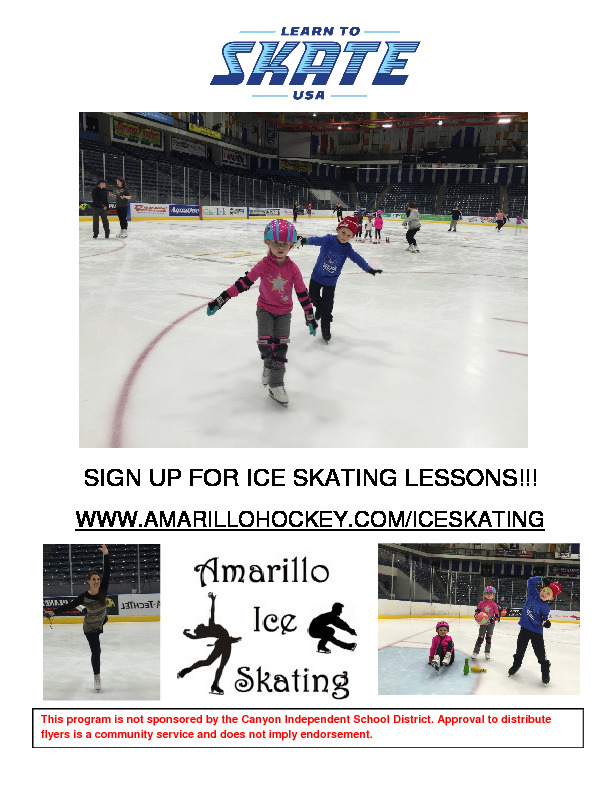 Sign up for ice skating lessons