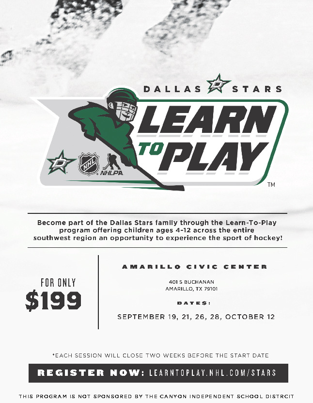 Dallas Start Learn to Play Hockey offering ages 4 12 an opportunity to experience the sport of hockey
