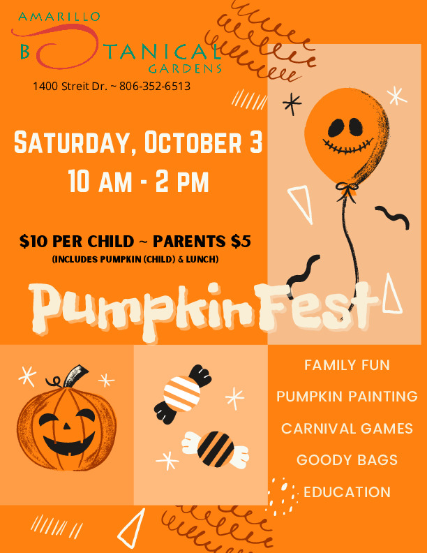 PumpkinFest 2020 come out and enjoy pumpkin painting carnival games education and lunch