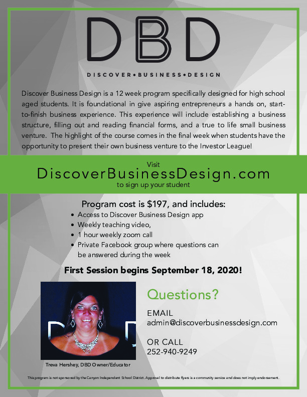 Discover Business Design is a 12 Week Program