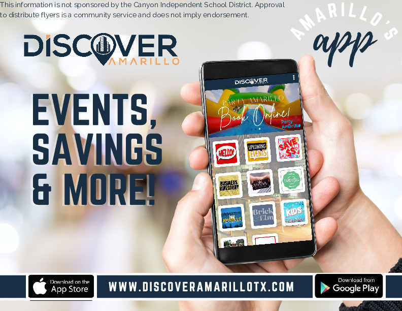 Discover Amarillo APP available for download in both app stores Shop Dine and Explore Amarillo TX