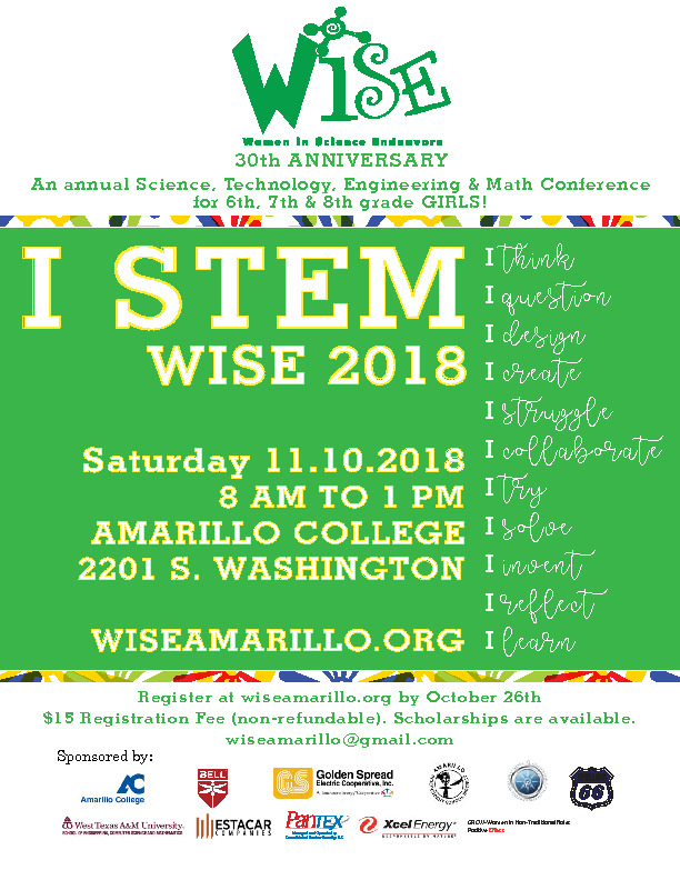 An annual STEM Conference for 6th 7th and 8th grade girls on November 10th