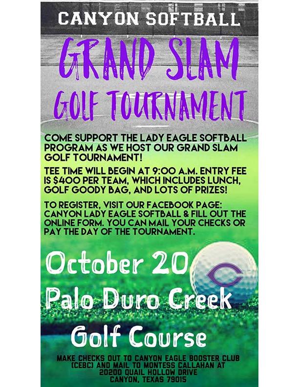 CHS Grand Slam Golf Tournament is October 20th at Palo Duro Creek Golf Course