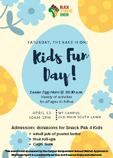 WT Kids Fun Day and Easter Egg Hunt