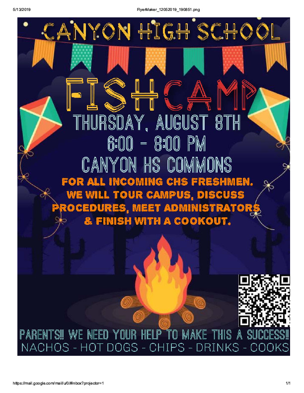 For all incoming freshman students can tour the campus discuss procedures meet administrators and finish with a cookout