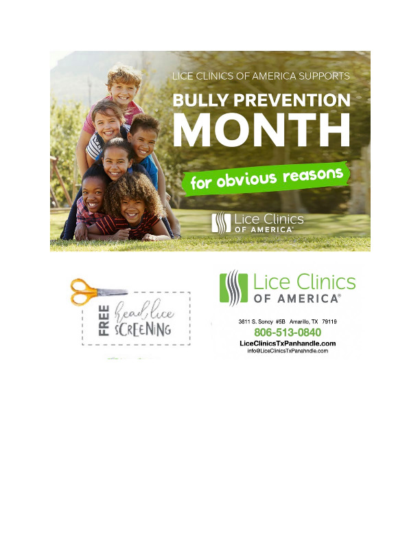 Lice Clinics of America supports Bully prevention month  Free head lice screening