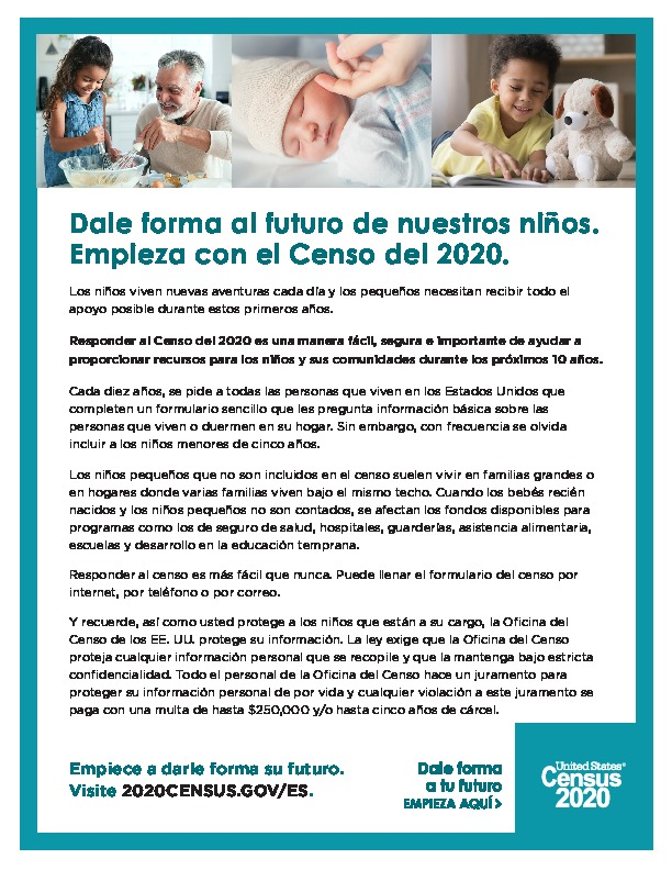 Information about the 2020 Census in Spanish