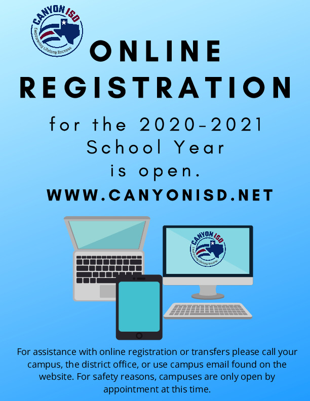 For assistance with online registration or transfers please call you campus the district office or use campus email